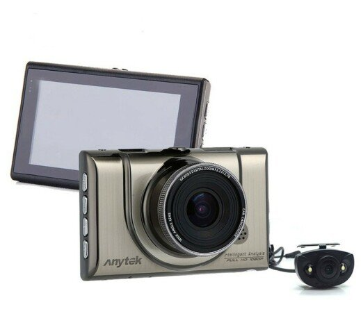Camera auto DVR iUni Dash 100H, Dual Cam, Full HD, WDR, 170 grade, by Anytek